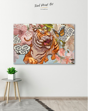 Chinese Tiger Painting Canvas Wall Art - image 4