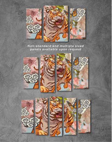 Chinese Tiger Painting Canvas Wall Art - image 5