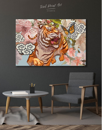 Chinese Tiger Painting Canvas Wall Art - image 6