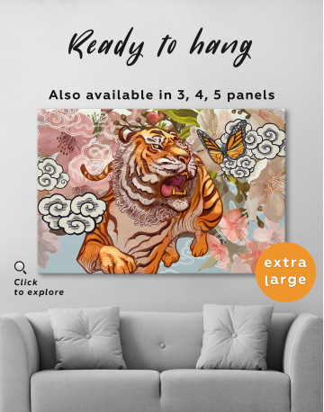 Chinese Tiger Painting Canvas Wall Art - image 7