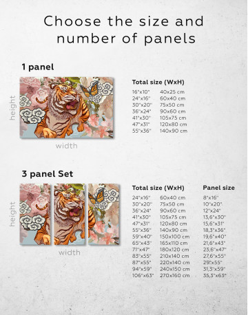 Chinese Tiger Painting Canvas Wall Art - image 8