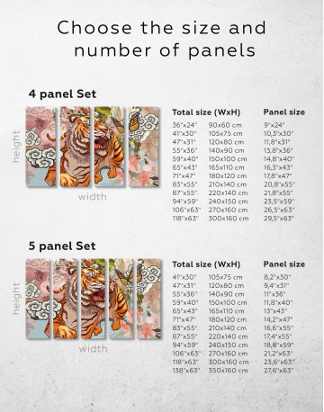 Chinese Tiger Painting Canvas Wall Art - image 10
