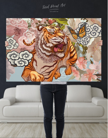 Chinese Tiger Painting Canvas Wall Art - image 9
