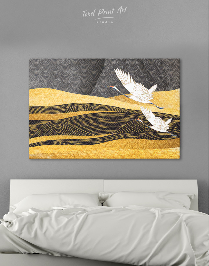Chinese Crane Painting Canvas Wall Art
