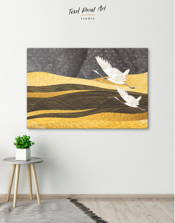 Chinese Crane Painting Canvas Wall Art - image 4