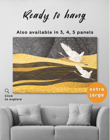 Chinese Crane Painting Canvas Wall Art - image 7
