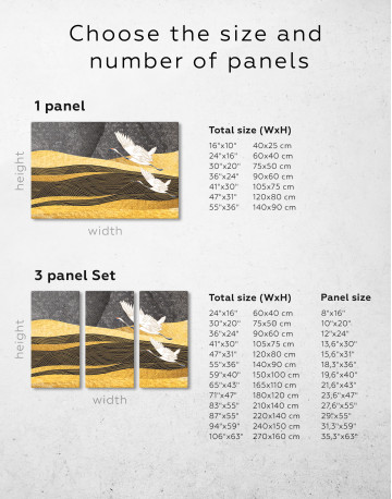 Chinese Crane Painting Canvas Wall Art - image 8