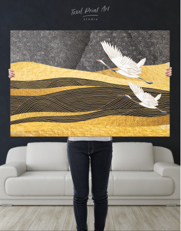 Chinese Crane Painting Canvas Wall Art - image 9