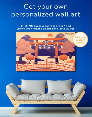 Japanese Torii Gate Canvas Wall Art - image 7