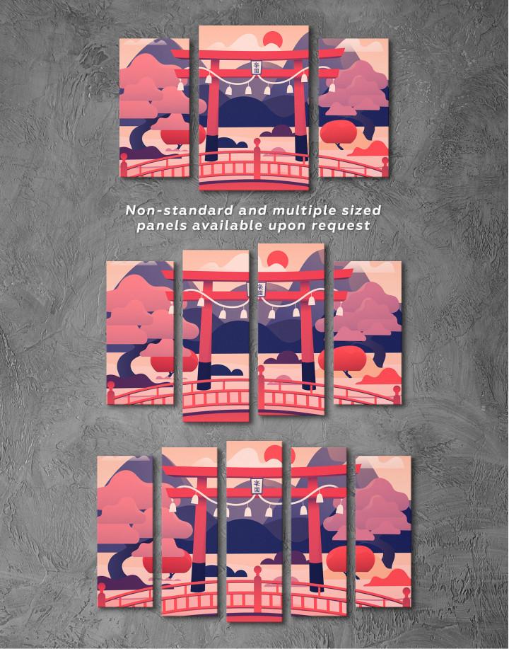 Japanese Torii Gate Canvas Wall Art - Image 5