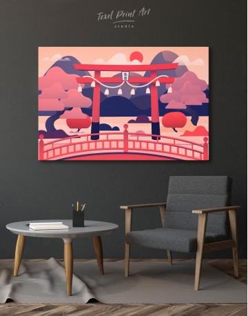Japanese Torii Gate Canvas Wall Art - image 4