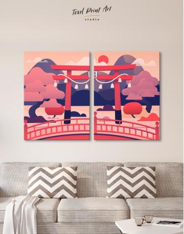 Japanese Torii Gate Canvas Wall Art - image 1