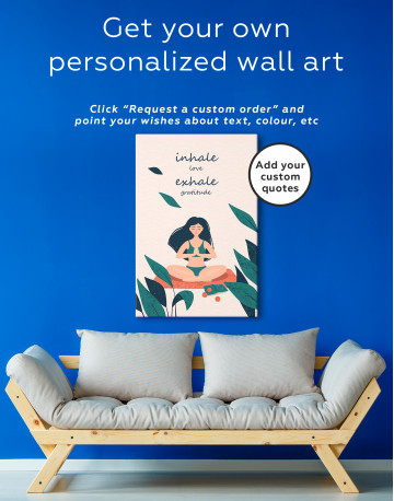 Inhale Love Exhale Gratitude Canvas Wall Art - image 4