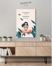 Inhale Love Exhale Gratitude Canvas Wall Art - Image 2