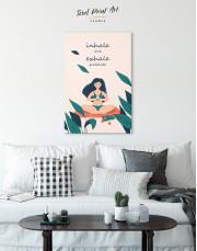 Inhale Love Exhale Gratitude Canvas Wall Art - Image 3