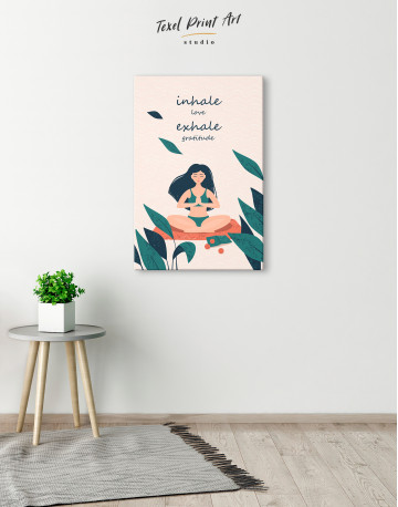 Inhale Love Exhale Gratitude Canvas Wall Art - image 1