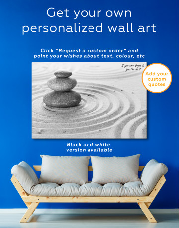 Zen Stone Garden Canvas Wall Art - image 7
