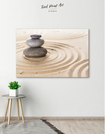 Zen Stone Garden Canvas Wall Art - image 6