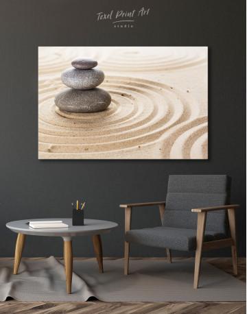 Zen Stone Garden Canvas Wall Art - image 4