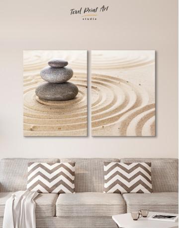 Zen Stone Garden Canvas Wall Art - image 1