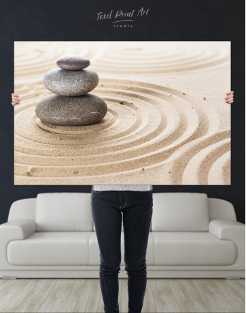 Zen Stone Garden Canvas Wall Art - image 8