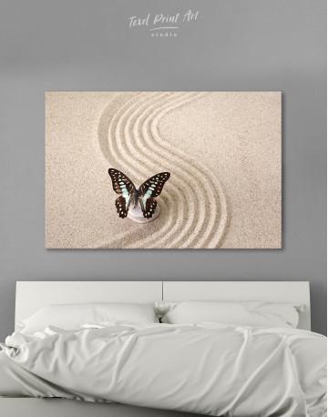 Butterfly in Zen Garden Canvas Wall Art