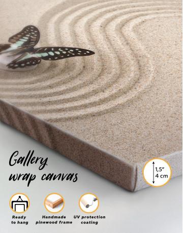 Butterfly in Zen Garden Canvas Wall Art - image 3