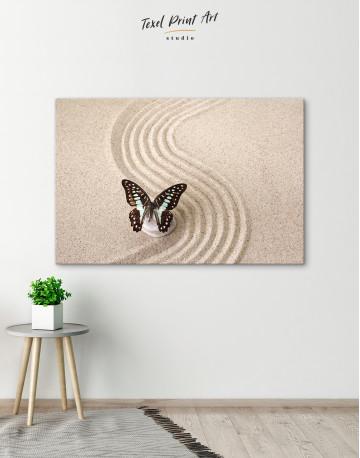 Butterfly in Zen Garden Canvas Wall Art - image 5