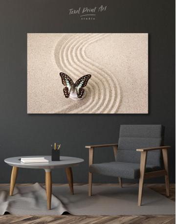 Butterfly in Zen Garden Canvas Wall Art - image 7