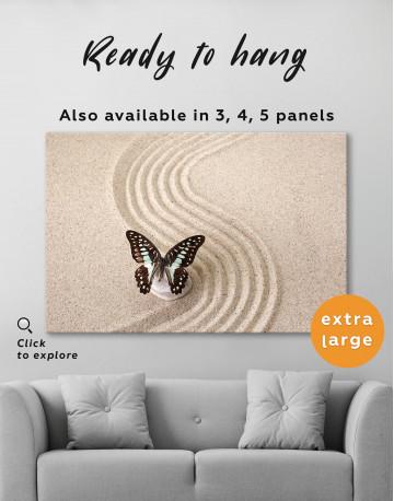 Butterfly in Zen Garden Canvas Wall Art - image 8