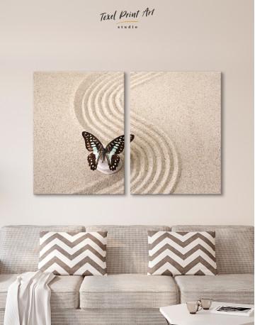 Butterfly in Zen Garden Canvas Wall Art - image 1