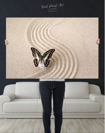 Butterfly in Zen Garden Canvas Wall Art - image 2