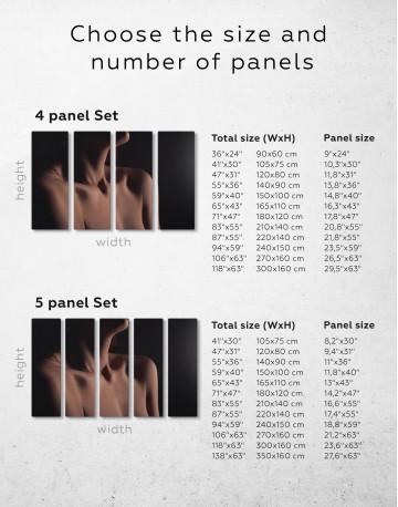 Erotic Woman Body Canvas Wall Art - image 1