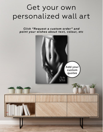 Black and White Woman Body Nude Canvas Wall Art - image 6