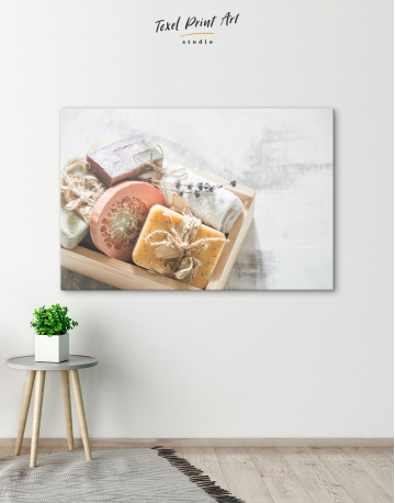 Rustic Bathroom Spa Soap Canvas Wall Art - image 6