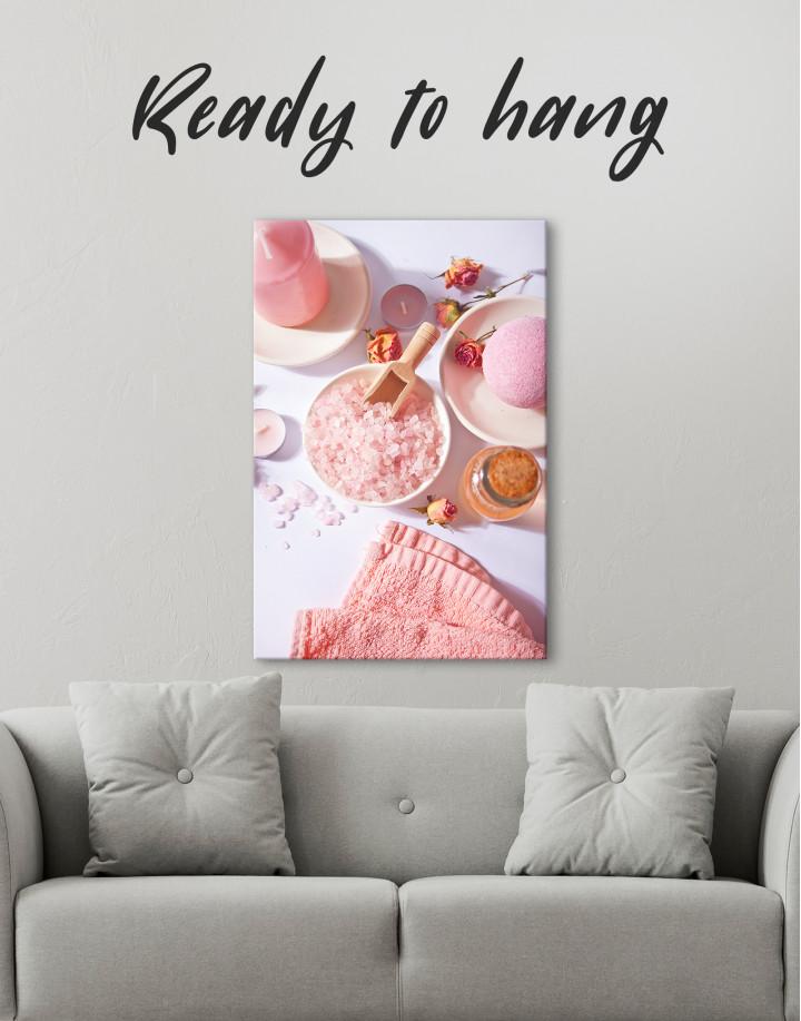 Pink Salt Canvas Wall Art