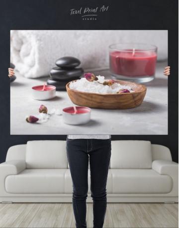 Bathroom Candles and Salt Canvas Wall Art - image 10