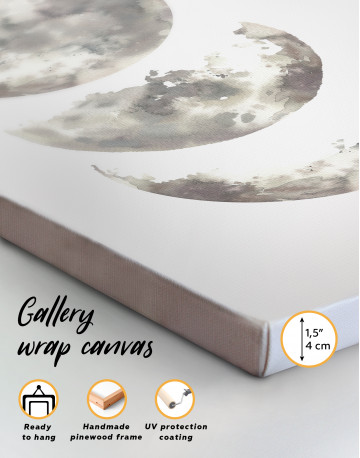 Watercolor Moon Phases Canvas Wall Art - image 3