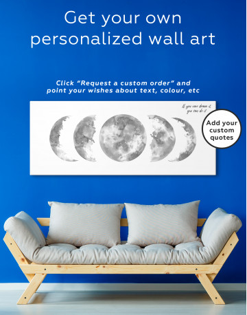 Watercolor Moon Phases Canvas Wall Art - image 4