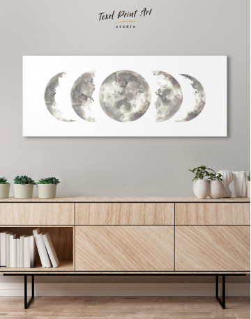 Watercolor Moon Phases Canvas Wall Art - image 2