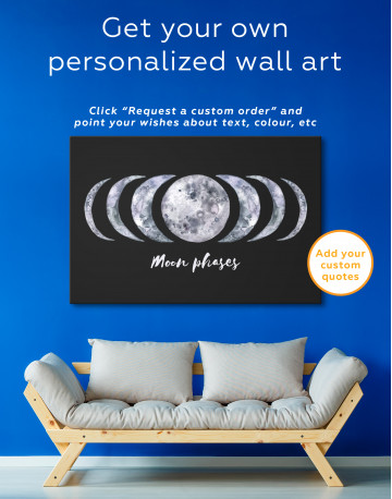 Moon Phases Canvas Wall Art - image 3