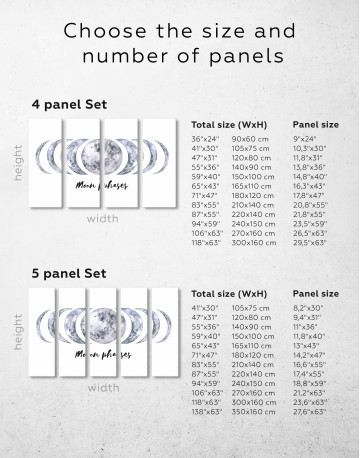 Moon Phases Canvas Wall Art - image 9
