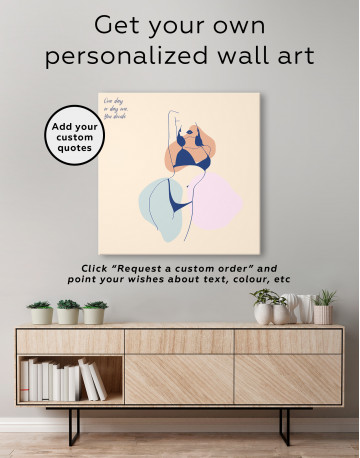 Abstract Woman Silhouette Canvas Wall Art - image 4