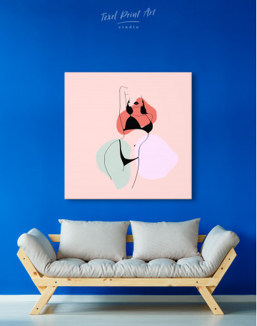 Abstract Woman Silhouette Canvas Wall Art - image 3
