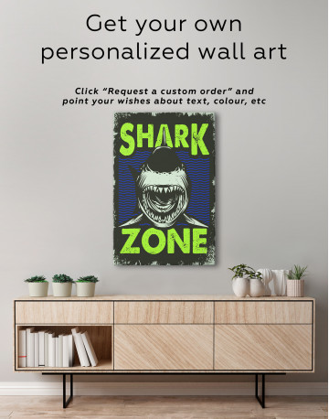 Shark Zone Canvas Wall Art - image 2