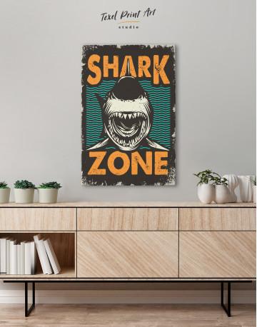 Shark Zone Canvas Wall Art - image 5