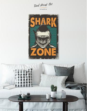 Shark Zone Canvas Wall Art - image 4