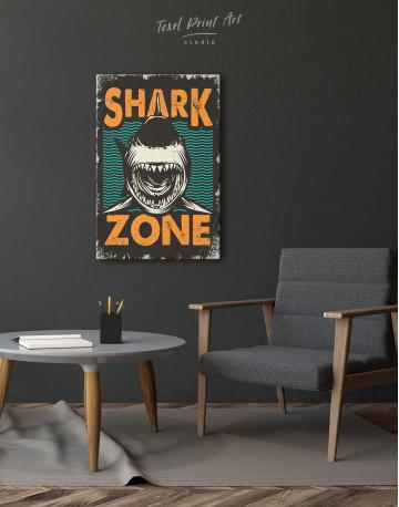Shark Zone Canvas Wall Art - image 1