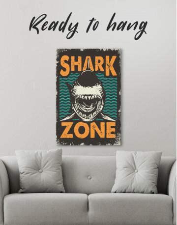 Shark Zone Canvas Wall Art