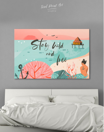 Stay Wild and Free Canvas Wall Art